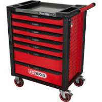 KS Tools RACINGline black-red Workshop Trolley, 7 Drawers