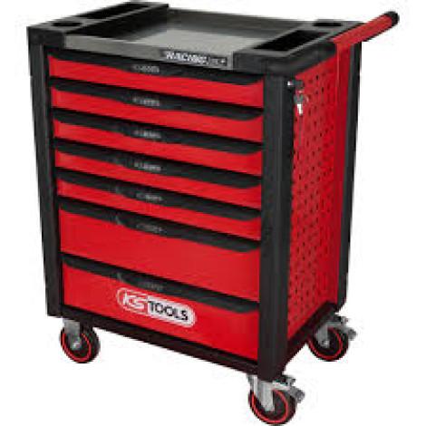 KS Tools RACINGline black-red Workshop Trolley, 7 Drawers